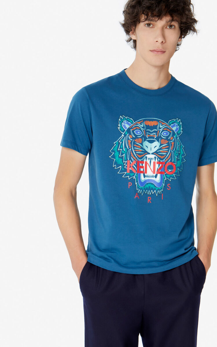 BLUE Tiger T-shirt for men KENZO
