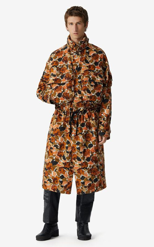 PEACH Long 'Rose Camo' parka for men KENZO