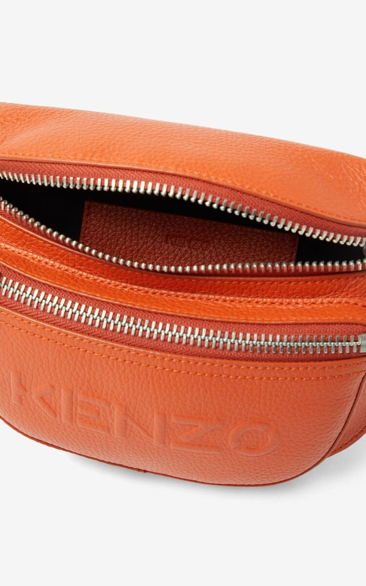 PAPRIKA KENZO Imprint grained leather belt bag for unisex