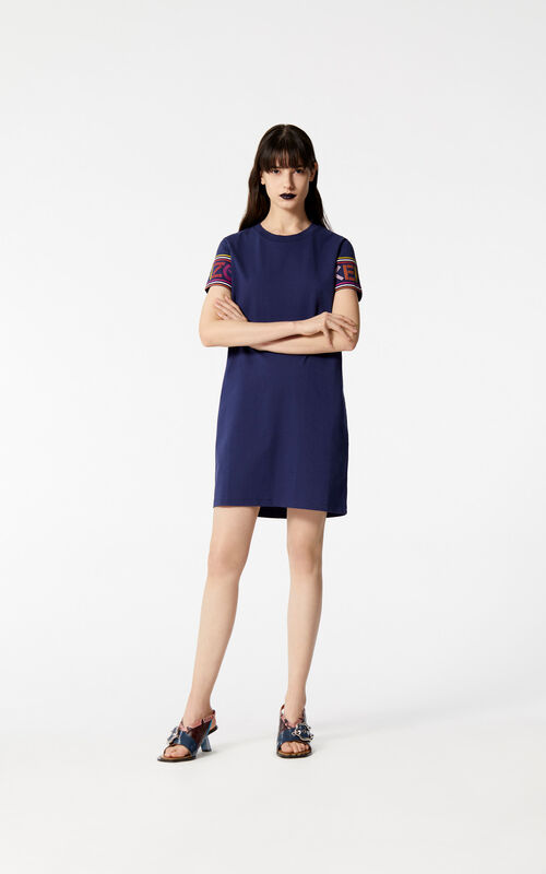 INK Multicolor KENZO Logo t-shirt dress for women