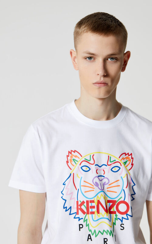 WHITE 'High Summer Capsule Collection' Tiger t-shirt for men KENZO