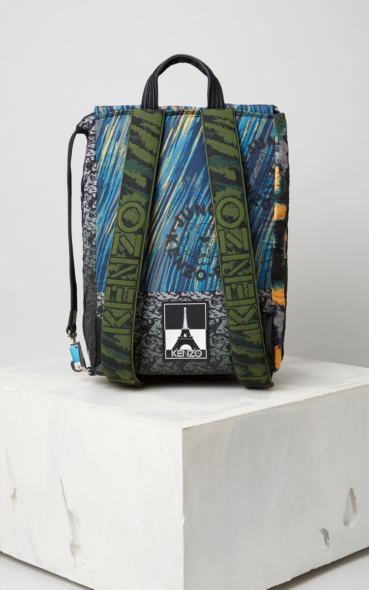 MARIGOLD Multi Icons hiking backpack for men KENZO