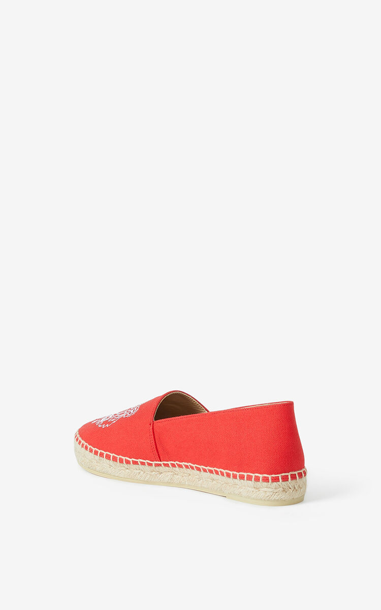 MEDIUM RED  Tiger canvas espadrilles for unisex KENZO