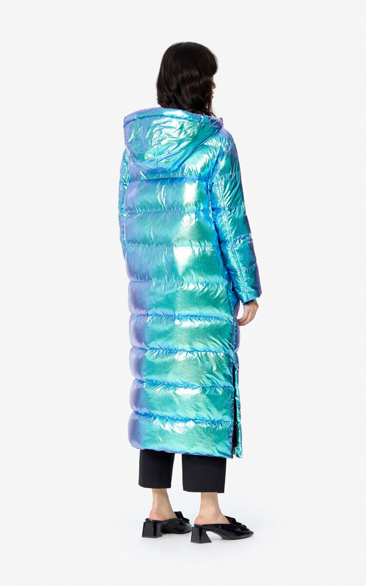 TURQUOISE Long quilted jacket for women KENZO