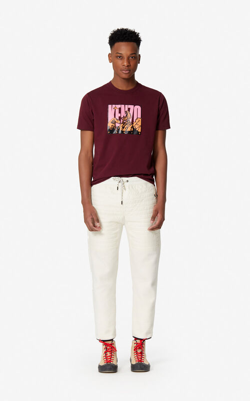 BORDEAUX 'Tiger Mountain' T-shirt for men KENZO