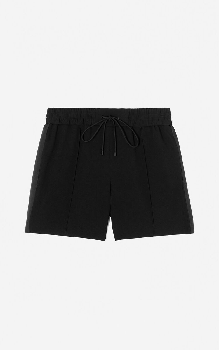 BLACK Crepe shorts for women KENZO