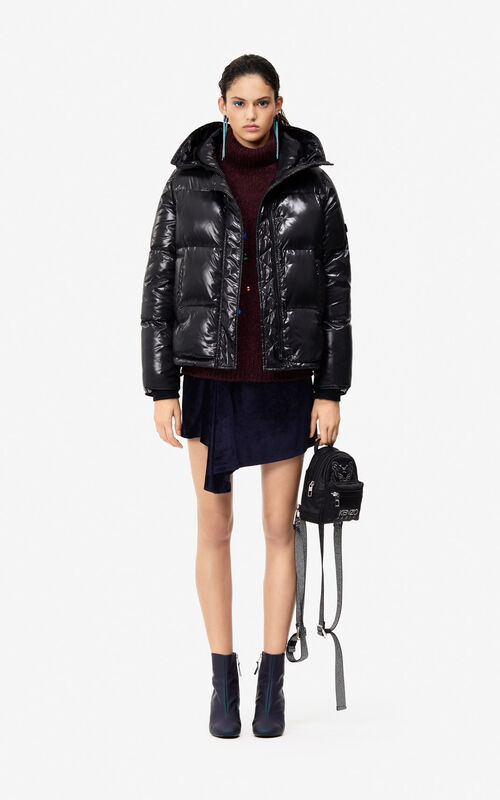BLACK Quilted down jacket 'Holiday Capsule' for women KENZO