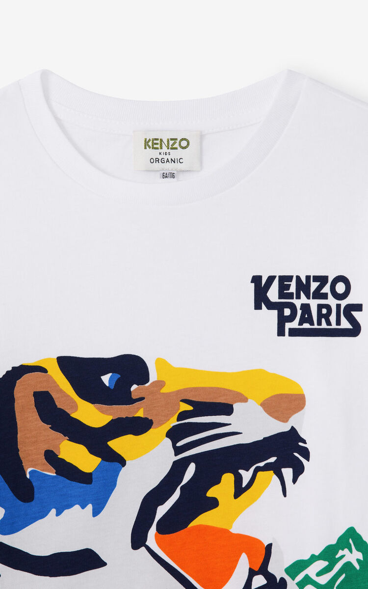 WHITE 'Ventura' long-sleeved T-shirt for men KENZO