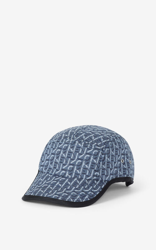 NAVY BLUE Courier monogrammed cap for unisex KENZO