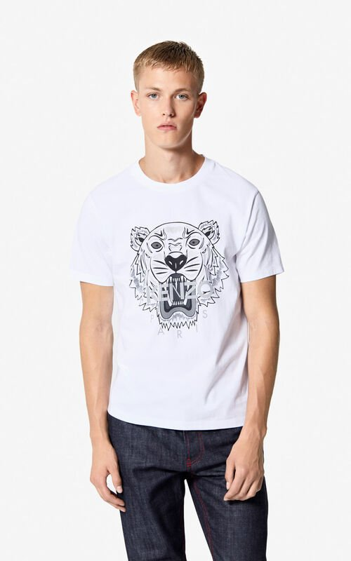 379369d7035 WHITE Tiger t-shirt for men KENZO ...