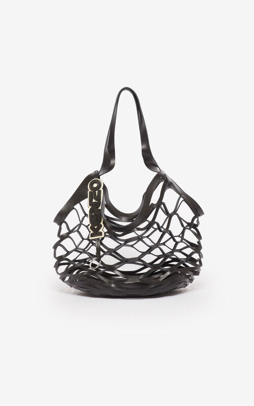 BLACK Openwork tote bag for unisex KENZO