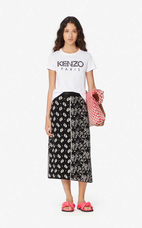 WHITE KENZO Paris 'Ikat' T-shirt for women