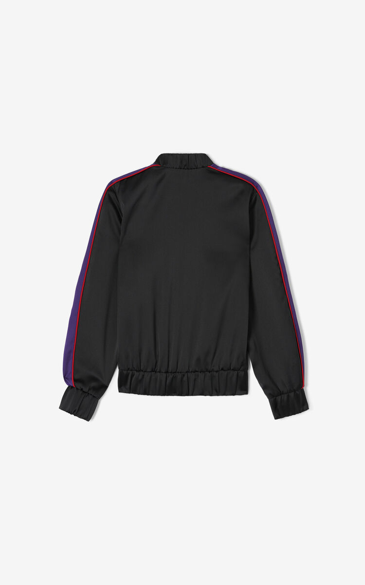 BLACK 'Chinese New Year Capsule' 'Sea Lily' bomber jacket for women KENZO