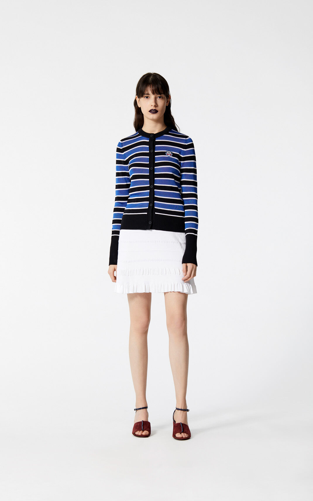 FRENCH BLUE Stripe Tiger cardigan for women KENZO