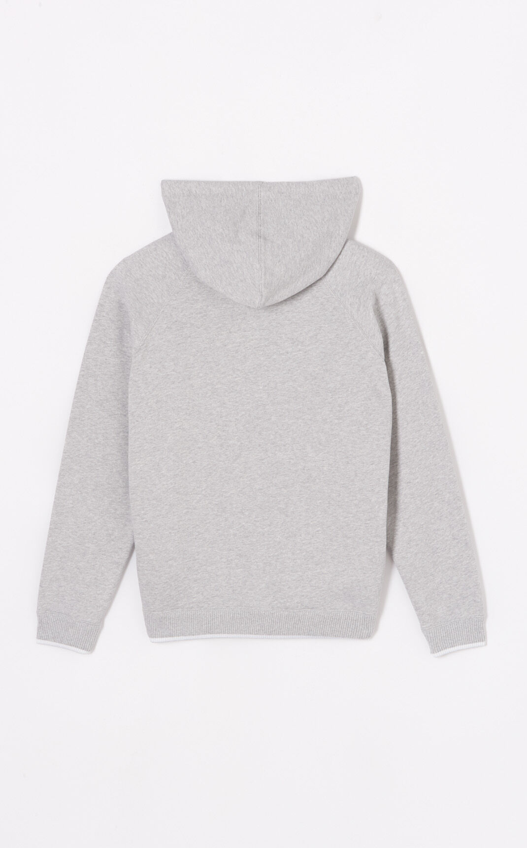 PALE GREY Tiger Crest Zipped Hoodie for women KENZO