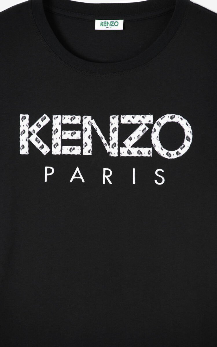 BLACK KENZO Paris 'Ikat' T-shirt for women