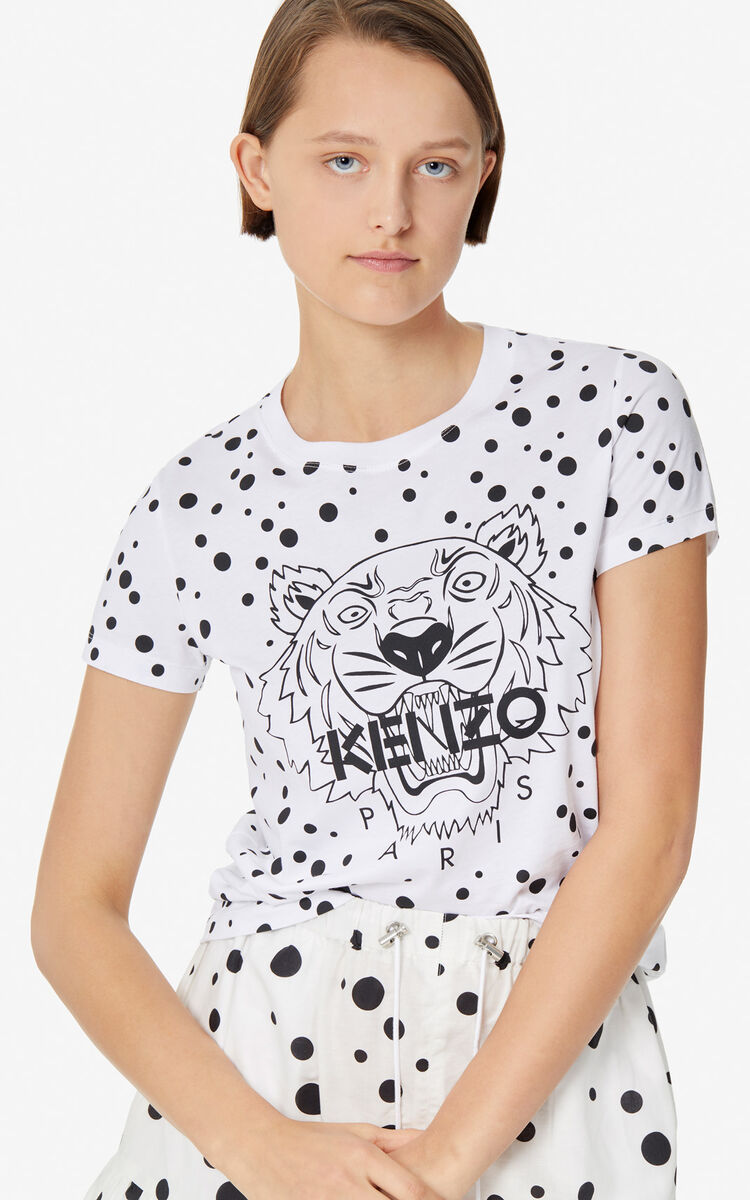 BLACK 'Dots' Tiger T-shirt 'High Summer Capsule collection' for women KENZO