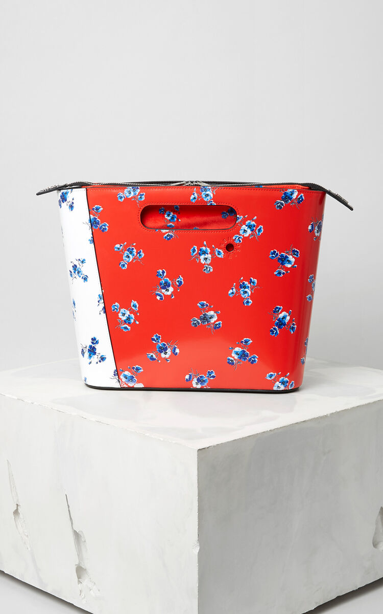 MULTICOLOR Medium 'May Flowers' Stiff Tote Bag for women KENZO