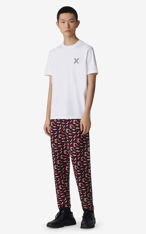 WHITE KENZO Sport 'Little X' t-shirt for men