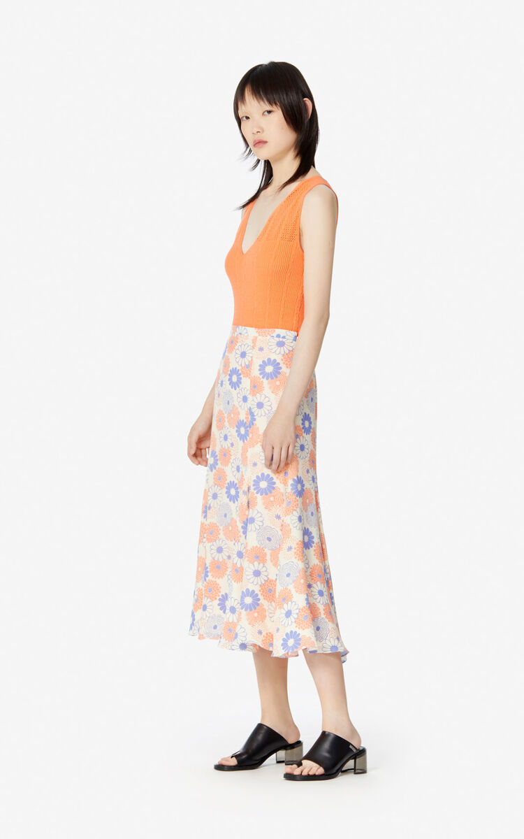 OFF WHITE 'Ume Flower' midi skirt for women KENZO