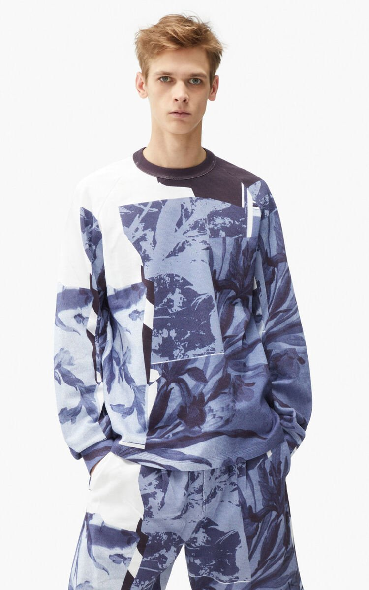 GLACIER 'High Summer Capsule' 'Cut-out Flowers' oversize sweatshirt for women KENZO