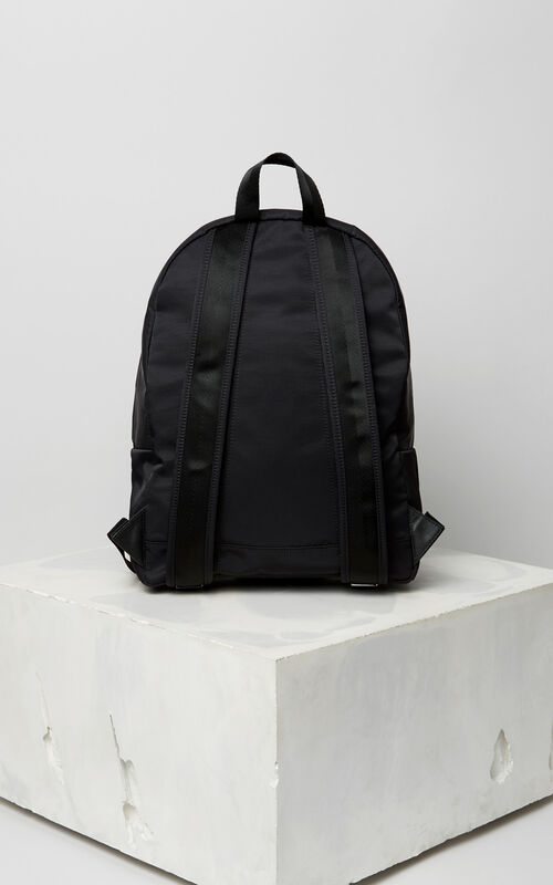 BLACK Large KENZO sport backpack for men