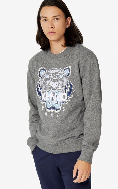 ANTHRACITE Tiger sweatshirt for men KENZO
