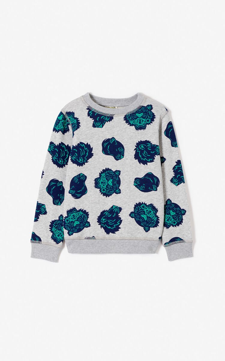 MIDDLE GREY Multi-design sweatshirt for women KENZO