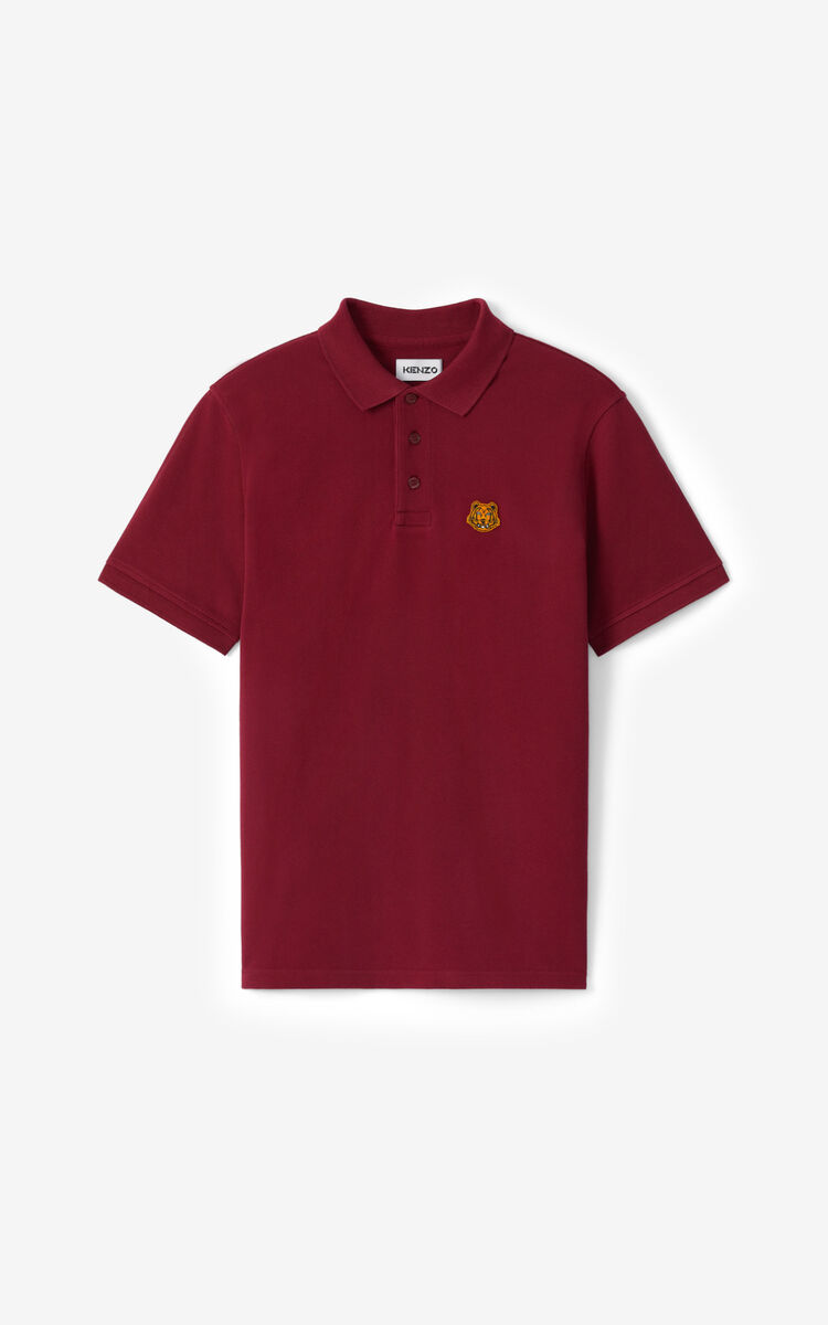 MAGENTA Tiger Crest polo for women KENZO