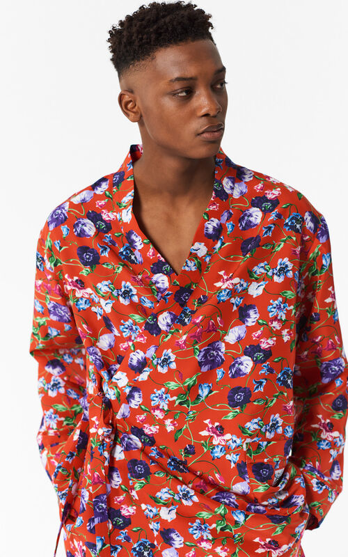 MEDIUM RED Flowers Shirt for men KENZO