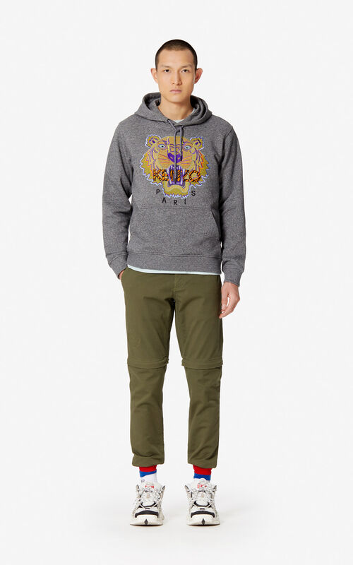 44274e0c ... ANTHRACITE 'Hiking Tiger' hoody for men KENZO. '
