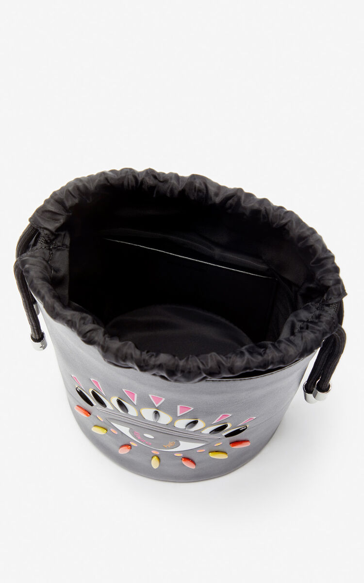 BLACK Kontact Eye mini bucket bag for unisex KENZO