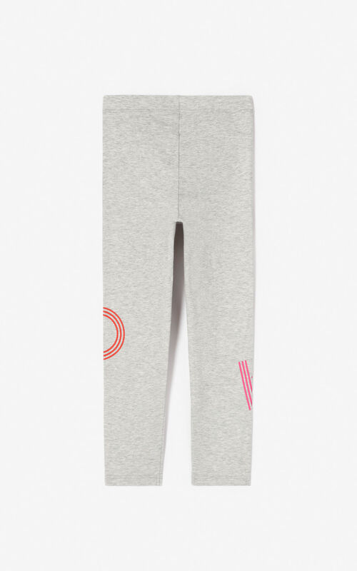 MIDDLE GREY KENZO logo leggings for women