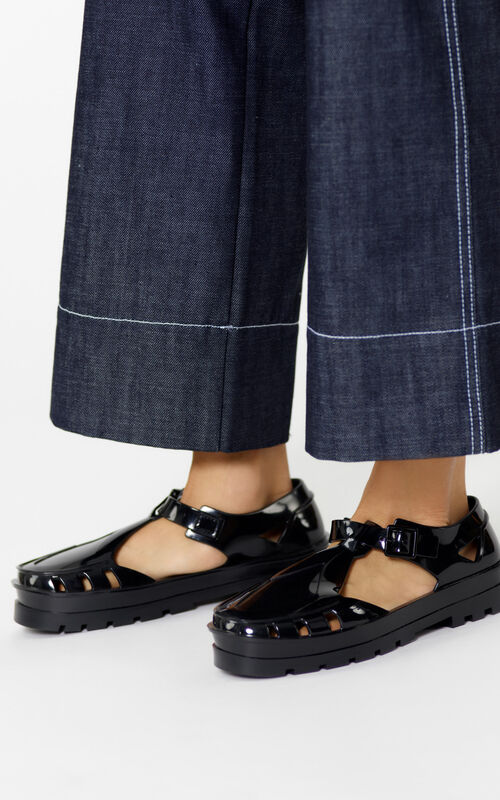 BLACK Sendai Sandals for women KENZO
