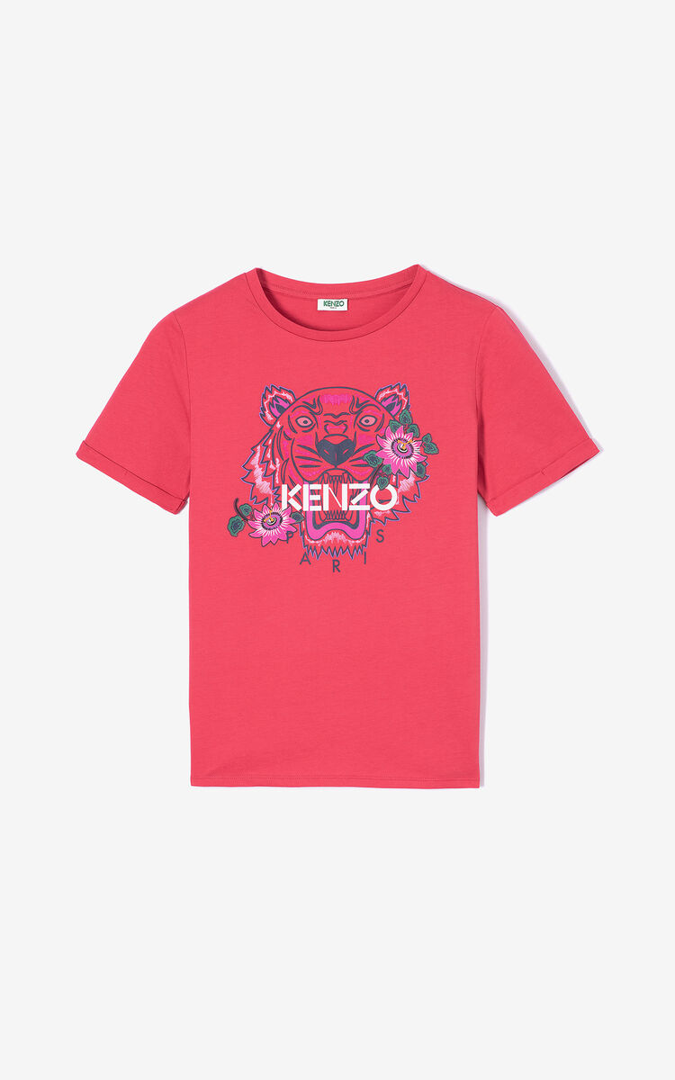 CORAL 'Passion Flower' Tiger T-shirt for women KENZO