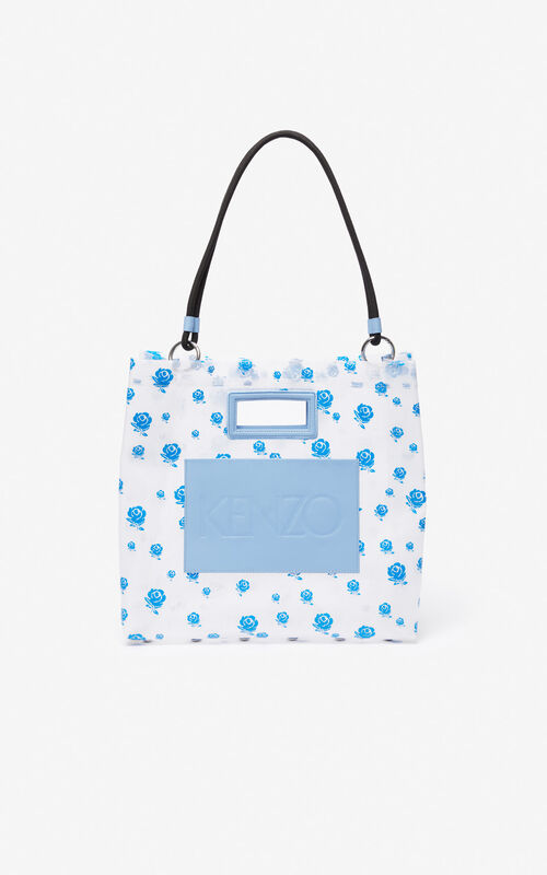 WHITE 'Roses' tote bag for unisex KENZO