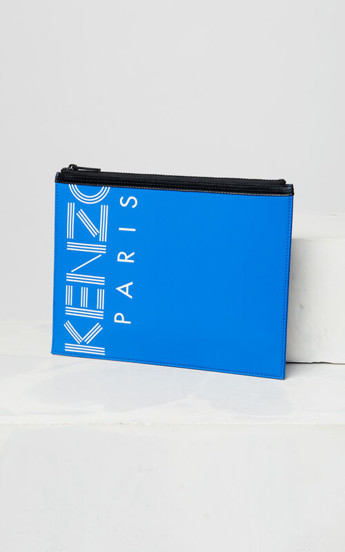 FRENCH BLUE A4 KENZO Logo clutch for unisex