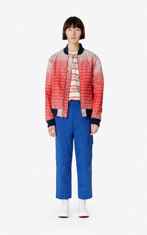 MIDNIGHT BLUE Fishnet' reversible jacket for men KENZO