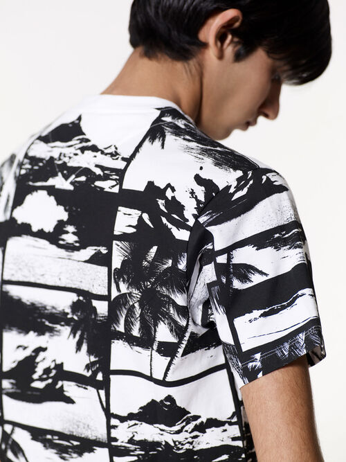 WHITE Postcards T-shirt for men KENZO