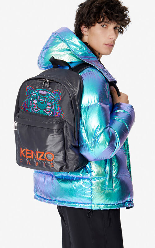 ANTHRACITE 'Holiday Capsule' large Tiger 'Kampus' backpack for women KENZO