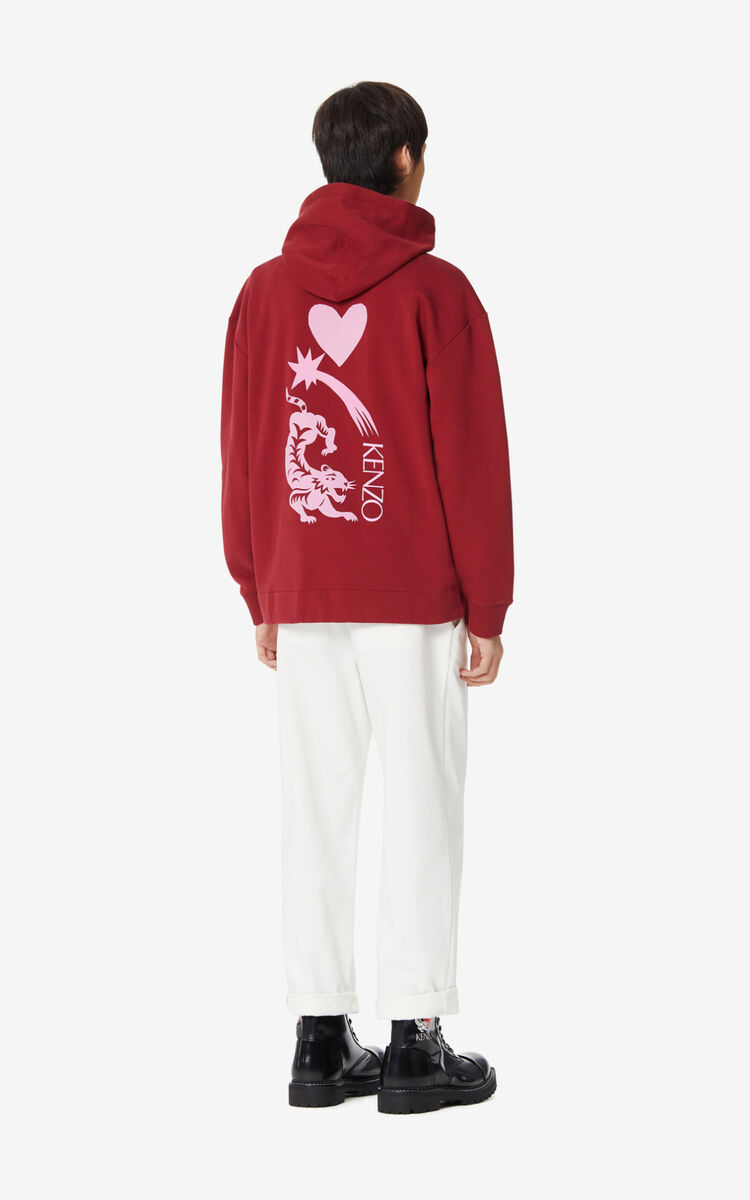 BORDEAUX 'Lucky Star' hooded sweatshirt for men KENZO