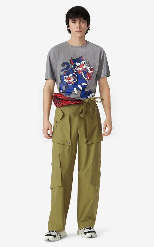 DOVE GREY KENZO x KANSAIYAMAMOTO 'Three Tigers' T-shirt for women