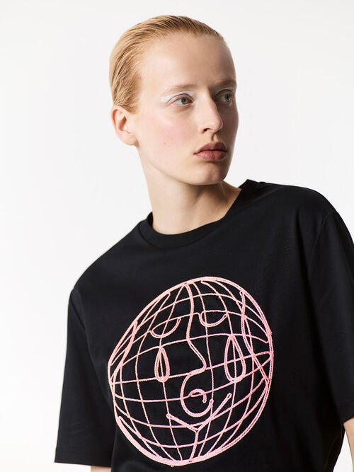 BLACK Peace World' t-shirt for women KENZO