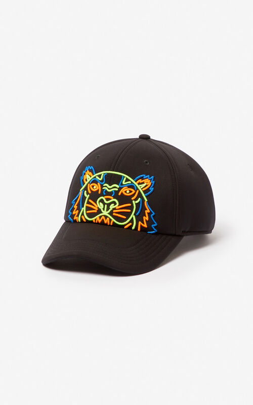 78fb82a8a68aa0 BLACK Tiger neoprene cap for unisex KENZO ...