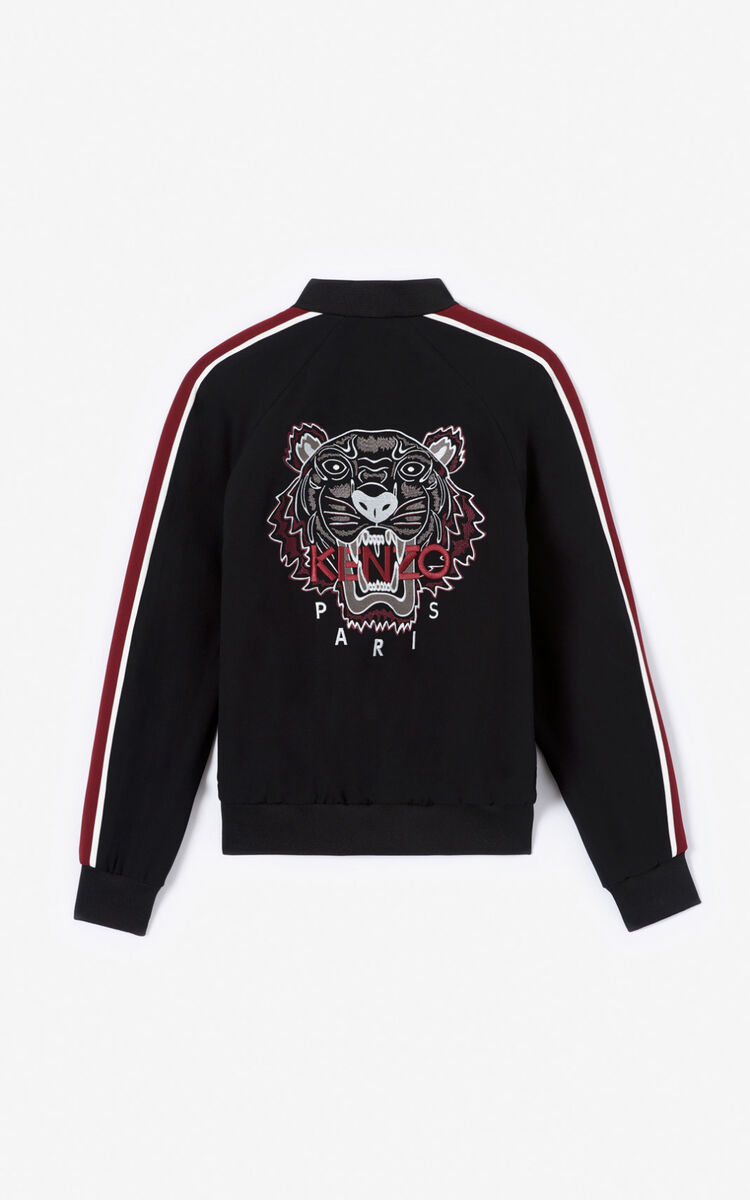 BLACK Tiger Teddy jacket for women KENZO