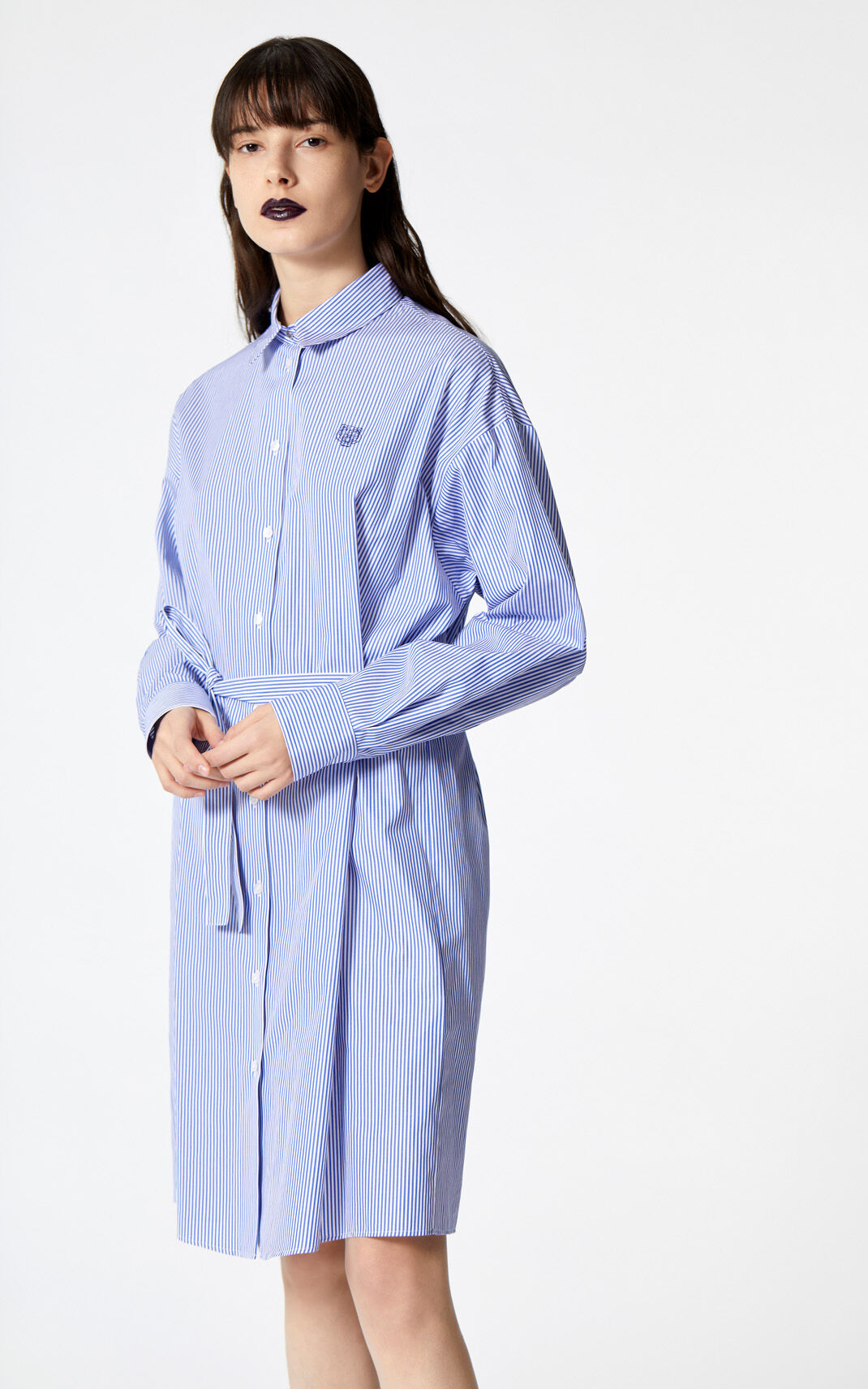 PERRIWINKLE Tiger stripe shirt dress for women KENZO
