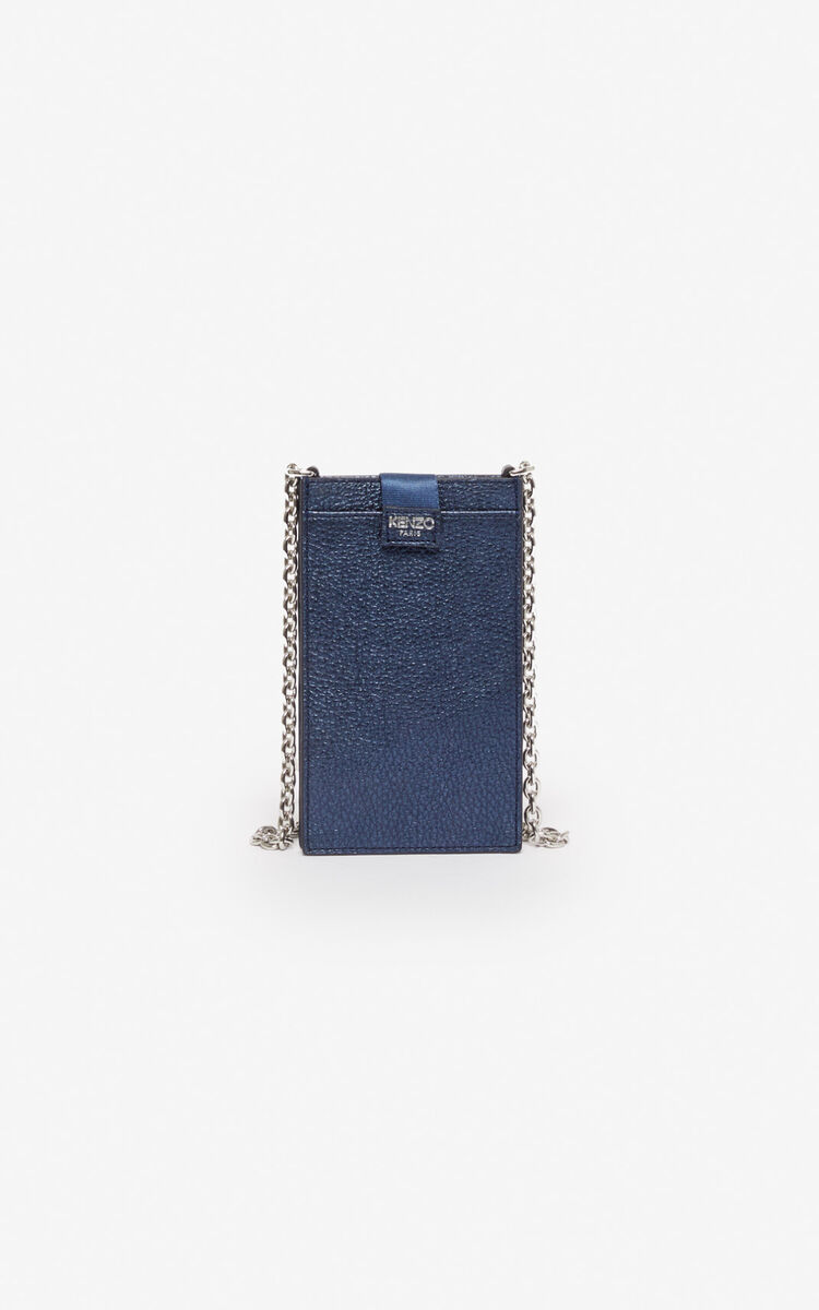 NAVY BLUE Phone Holder on Chain 'Kontact' Eye  for women KENZO