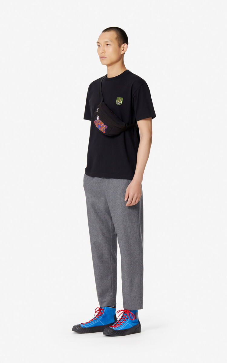 BLACK 'Tiger Mountain' t-shirt for men KENZO