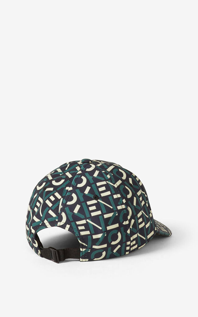 GREEN KENZO Sport monogrammed cap for men