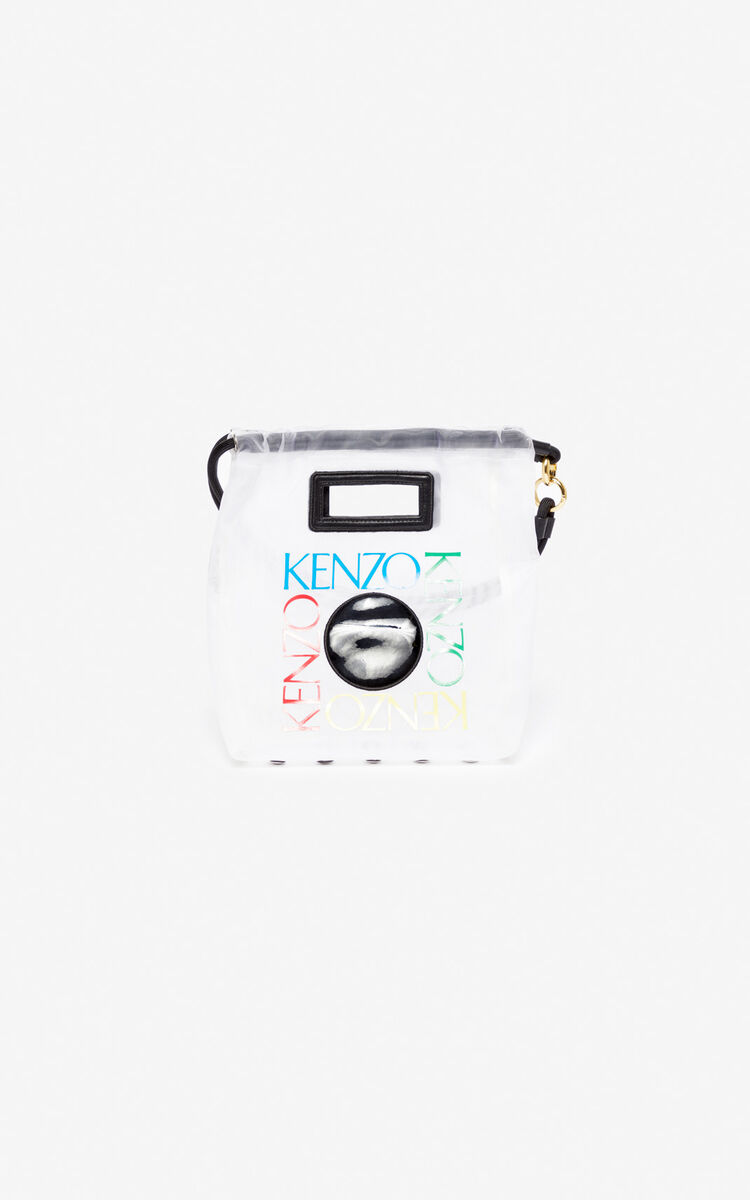 WHITE Small 'Square Logo' tote bag for unisex KENZO